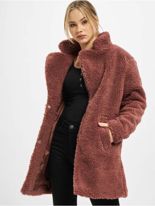 Urban Classics Ulkotakit Ladies Oversized Sherpa punainen