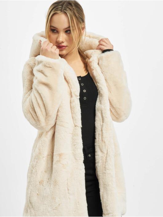 Urban Classics Ulkotakit Ladies Hooded Teddy valkoinen