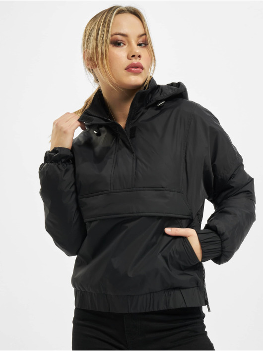 Urban Classics Välikausitakit Ladies Panel Padded musta
