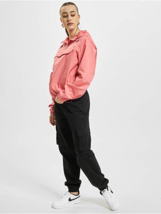 Urban Classics Välikausitakit Ladies Basic Pull Over vaaleanpunainen