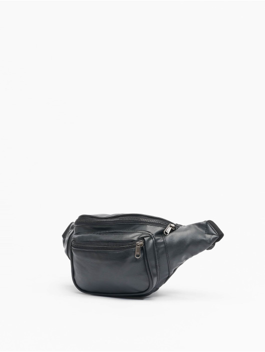 Urban Classics Väska Imitation Leather Double Zip Shoulder svart