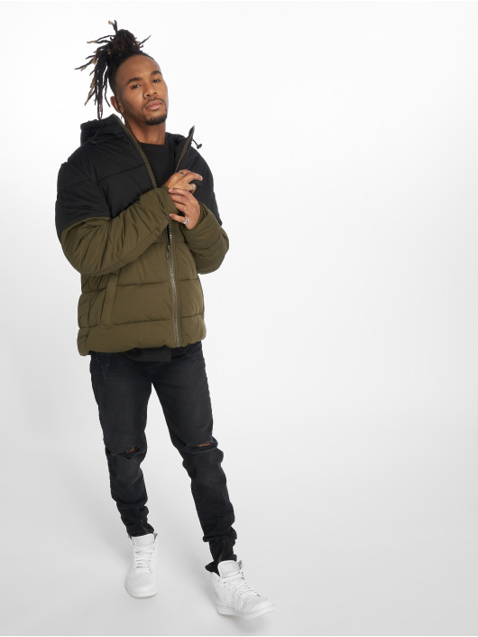 Urban Classics Vattert jakker Hooded 2-Tone oliven