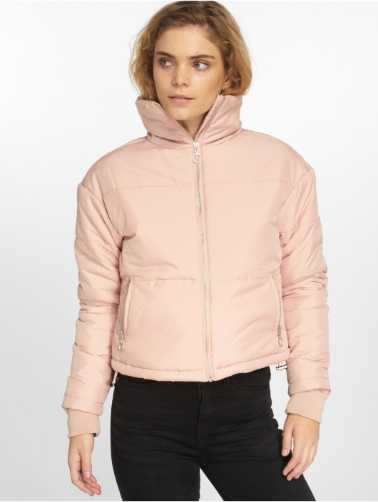 Urban Classics Vattert jakker Oversized High Neck rosa