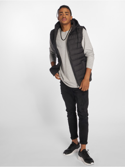 Urban Classics Vest Small Bubble Hooded black