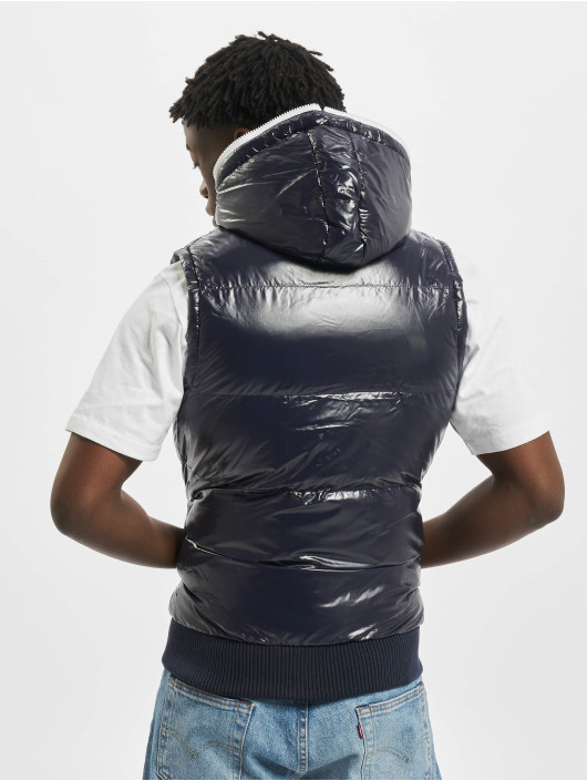 Urban Classics Vest Hooded Bubble blue