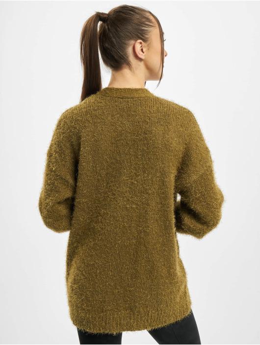 Urban Classics vest Ladies Feather olijfgroen