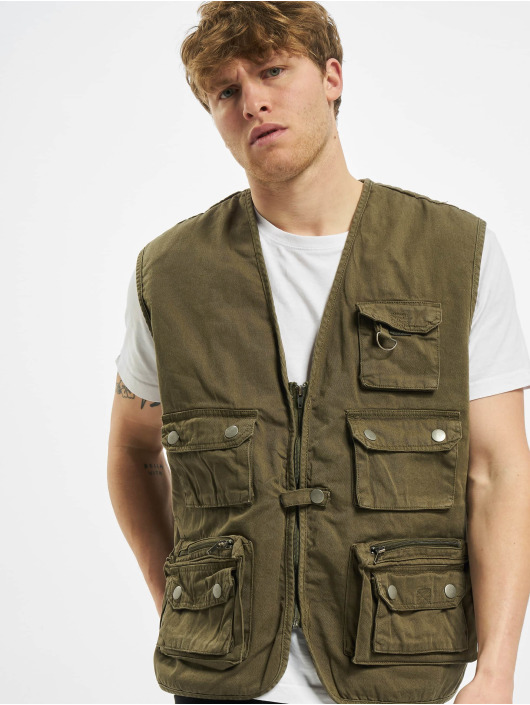 Urban Classics Vest Worker olive