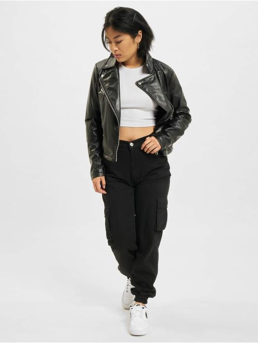 Urban Classics Veste & Blouson en cuir Faux Leather Biker noir