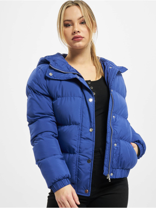 Urban Classics Veste matelassée Ladies Hooded bleu