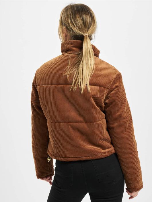 Urban Classics Veste matelassée Ladies Corduroy brun