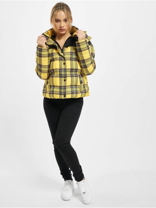 Urban Classics Veste matelassée Ladies AOP 2-Tone jaune