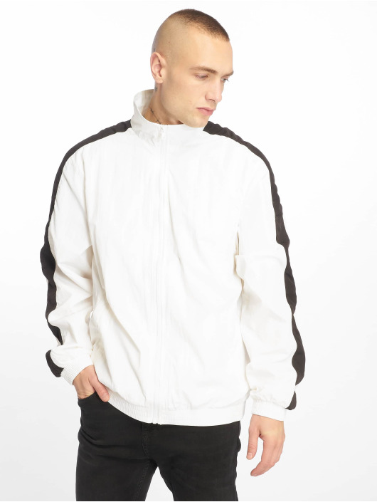 Homme Urban Striped Blanc Mi saison Crinkle Sleeve Légère 636540 Veste Classics wnPkO08