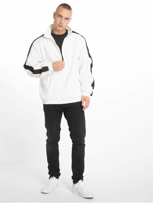 Urban Classics Veste mi-saison légère Striped Sleeve Crinkle blanc