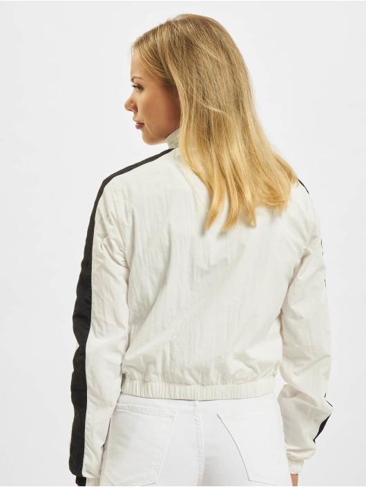 Urban Classics Veste mi-saison légère Short Striped Crinkle blanc