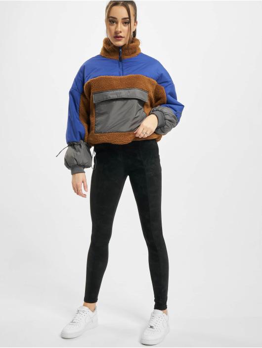 Urban Classics Veste mi-saison légère Ladies Sherpa 3-Tone Pull Over brun