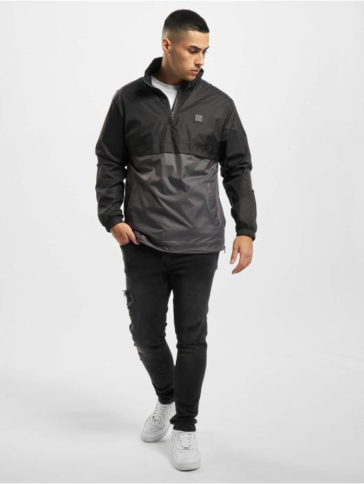 Urban Classics Veste mi-saison légère Stand Up Collar Pull Over noir