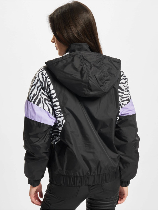 Urban Classics Veste mi-saison légère Ladies Aop Mixed Pull Over noir