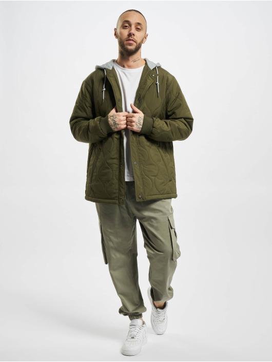 Urban Classics Veste mi-saison légère Quilted Hooded olive