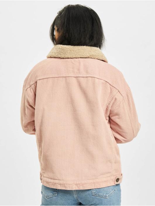 Urban Classics Veste mi-saison légère Oversize Sherpa Corduroy rose