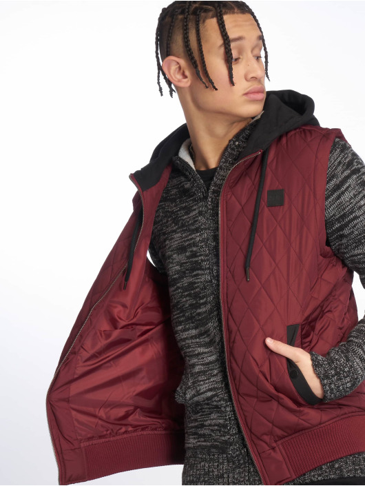 Urban Classics Vester-1 Diamond Quilted red