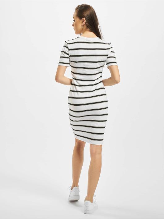 Urban Classics Vestido Stretch Stripe blanco
