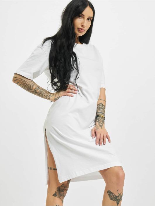 Urban Classics Vestido Organic Oversized Slit blanco