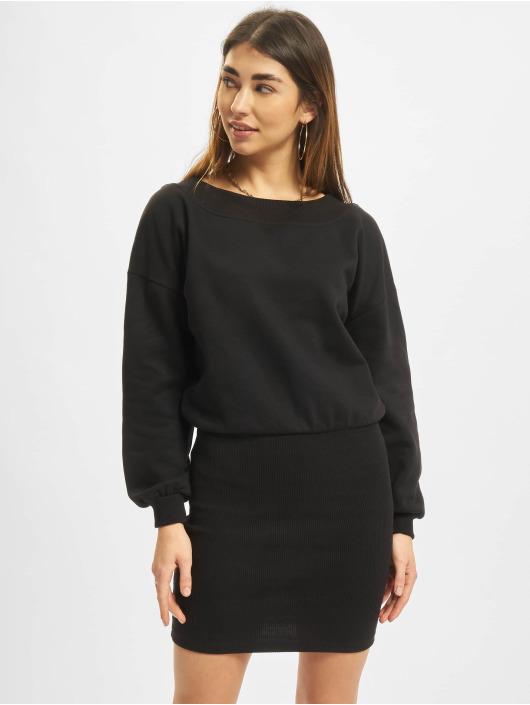 Urban Classics Vestido Off Shoulder negro