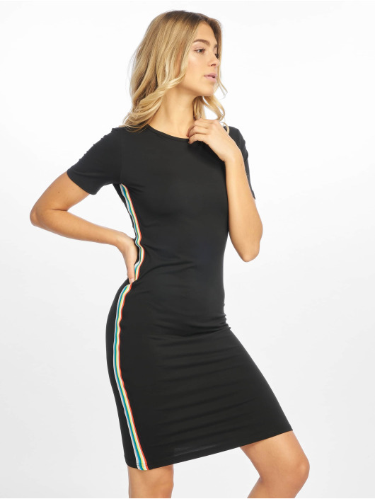 Urban Classics Vestido Multicolor Side Taped negro