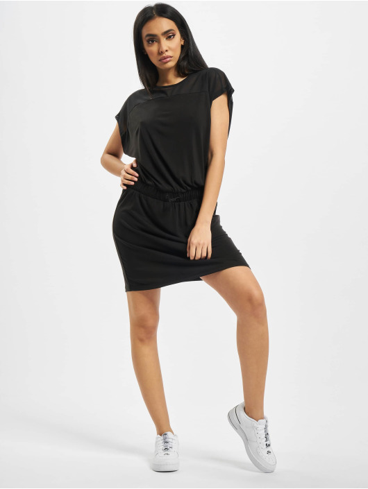 Urban Classics Vestido Ladies Tech Mesh negro