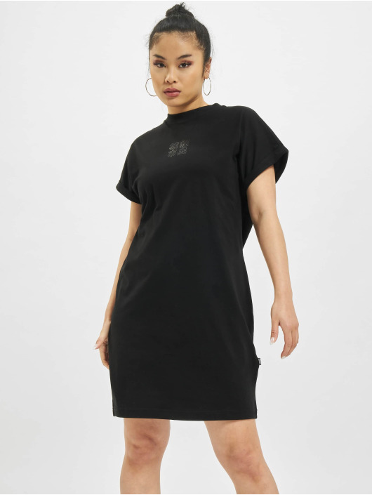 Urban Classics Vestido Cut On Sleeve Printed negro