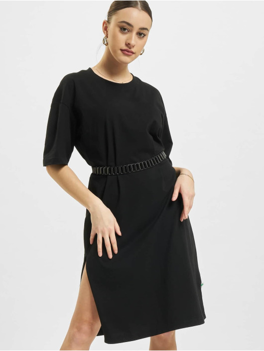 Urban Classics Vestido Organic Oversized Slit negro