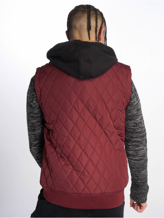 Urban Classics Vesty Diamond Quilted èervená
