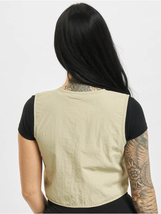 Urban Classics Vesty Ladies Short Tactical béžový