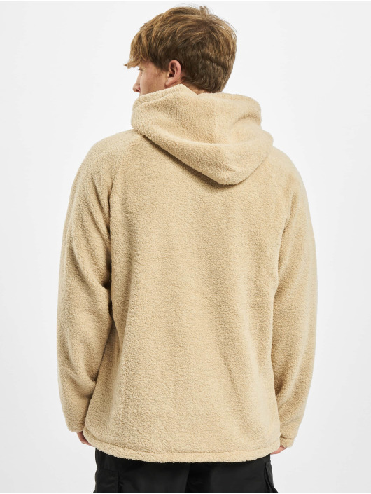 Urban Classics Vetoketjuhupparit Hooded Sherpa beige