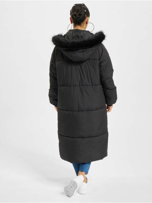 Urban Classics Vinterjakke Oversize Faux Fur svart