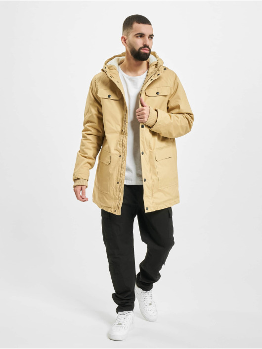 Urban Classics Winter Jacket Heavy Cotton beige