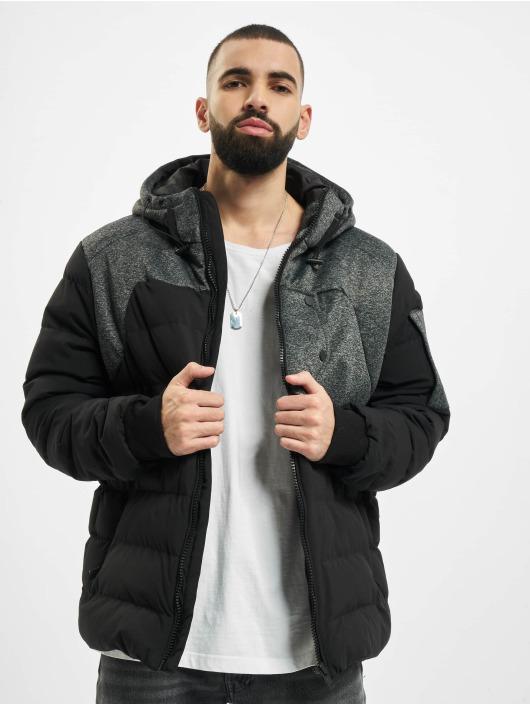 Urban Classics Winter Jacket Hooded Tech Bubble black