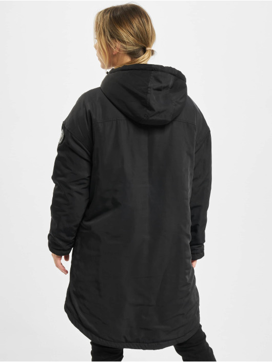 Urban Classics Winter Jacket Ladies Long Oversized Pull Over black