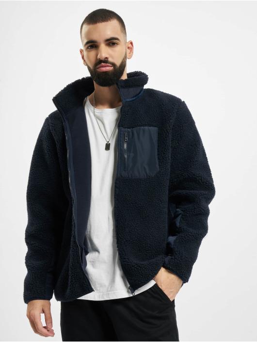 Urban Classics Winter Jacket Sherpa blue