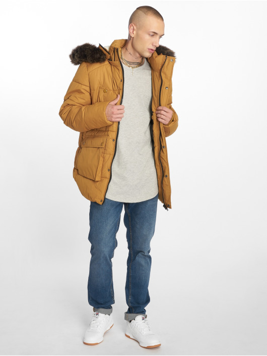 Urban Classics Winter Jacket Faux Fur brown