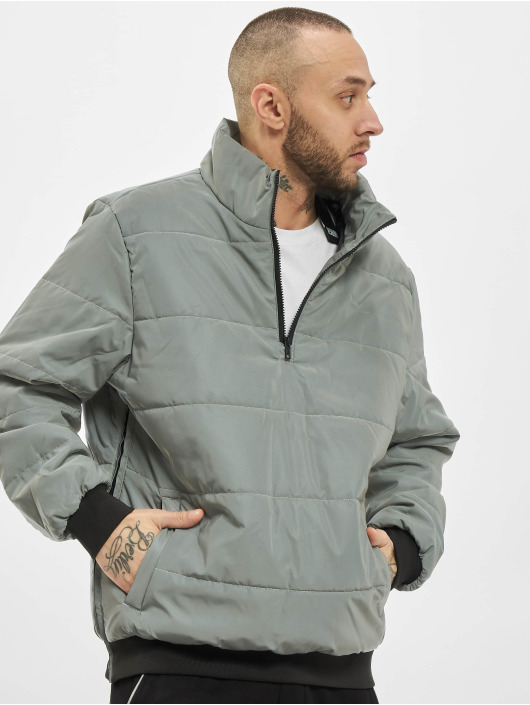 Urban Classics Winter Jacket Reflective silver colored