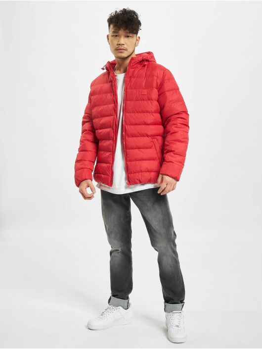 Urban Classics Winterjacke Basic Bubble rot