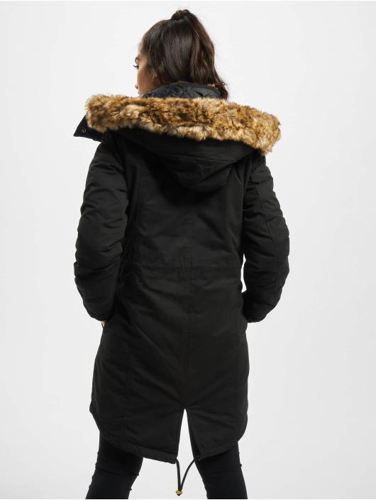 Fang weltweit bekannt Neupreis Urban Classics omega Imitation Fur Parka Black