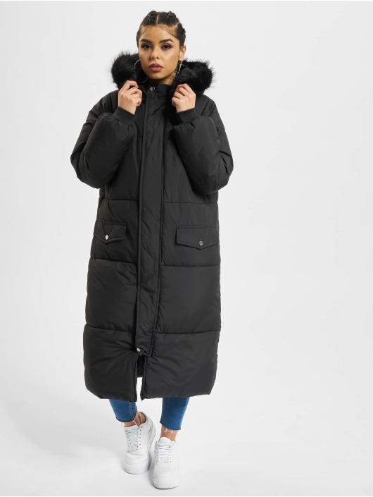 Urban Classics Winterjacke Oversize Faux Fur schwarz