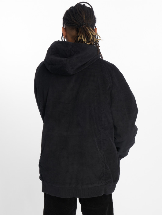 Urban Classics Winterjacke Hooded Corduroy schwarz