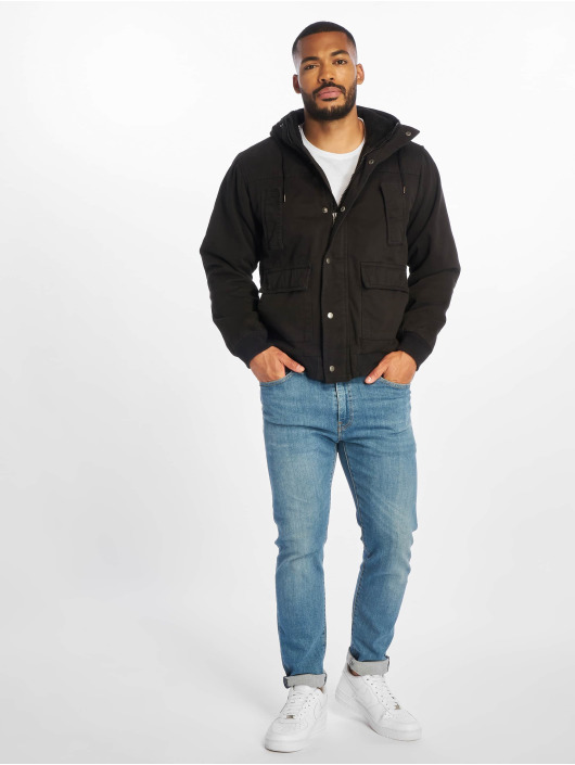 Urban Classics Winterjacke Hooded Cotton schwarz