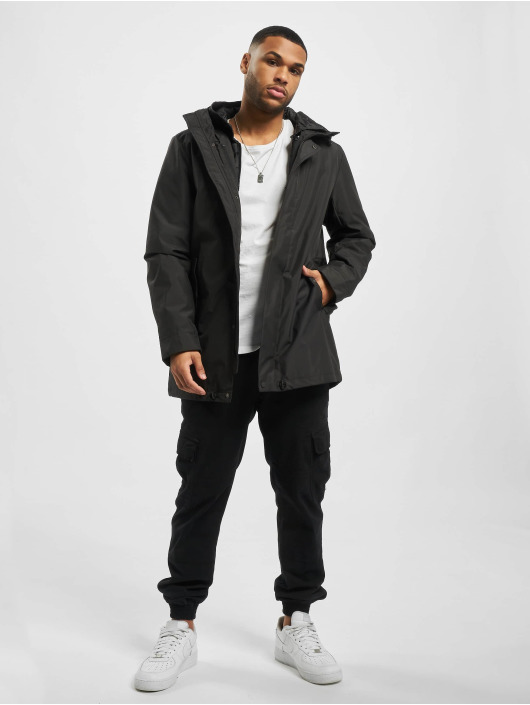 Urban Classics Winterjacke Hooded Long schwarz