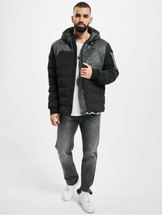 Urban Classics Winterjacke Hooded Tech Bubble schwarz