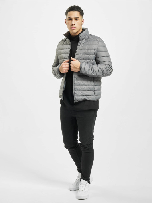 Urban Classics winterjas Basic Down grijs