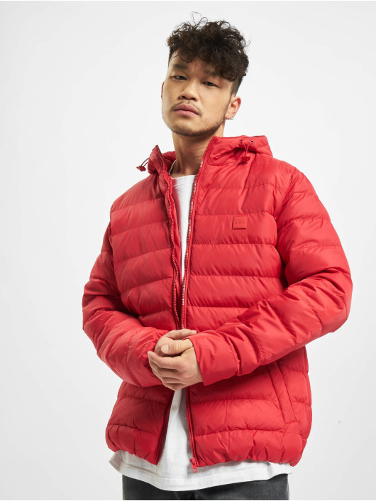 Urban Classics winterjas Basic Bubble rood